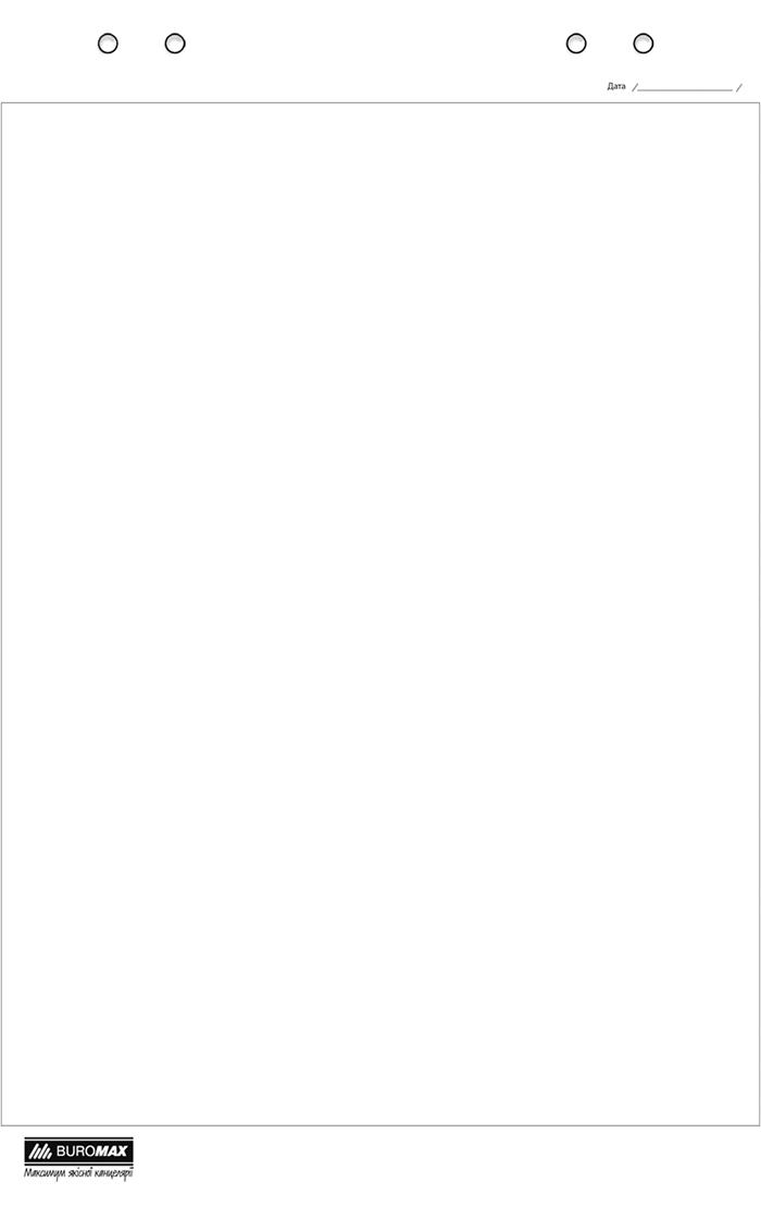Блок паперу для фліпчартів, 64х90 см, нелинованный, 20 л., офсет 70 г/м2 (BM.2296) buromax (BM.2296)