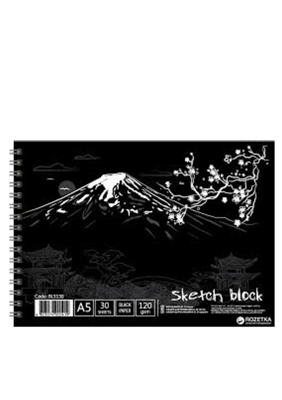 Альбом для рисования Офорт А5 (15 х 21 см) 30 листов черного цвета (BL5130) LK  (904020)