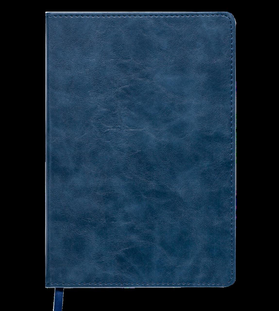 Блокнот деловой BELLAGIO, L2U, А5, 96 л., клетка, синий, иск.кожа (BM.29521101-02) buromax  (BM.29521101-02)