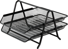 """Лоток для паперів горизонтальний """"2 в 1"""", металевий, чорний (BM.6250-01) buromax (BM.6250-01)"""