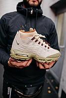 Кросівки чоловічі весняні осінні якісні модні Найк 95 Sneakerboot Beige, фото 1