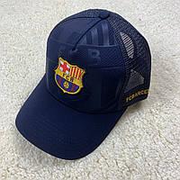 Кепка, бейсболка Барселона, Barselona NEW 19/20 с сеточкой темно-синий