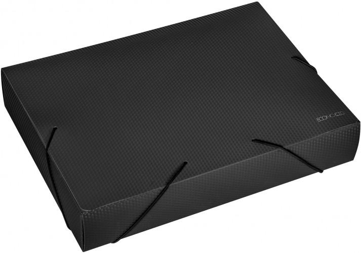 Папка-бокс пластиковая А4, 60мм, на резинках, черная (E31405-01) economix  (E31405-01)
