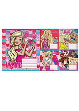 Набор тетрадей ученических (25штук) в линию 12листов  Barbie Сердце (679118) 1 Вересня  (679118)