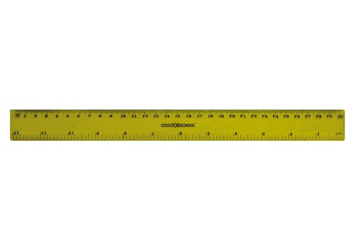 Линейка пластиковая, 30 см (CF81332) cool for school  (CF81332)