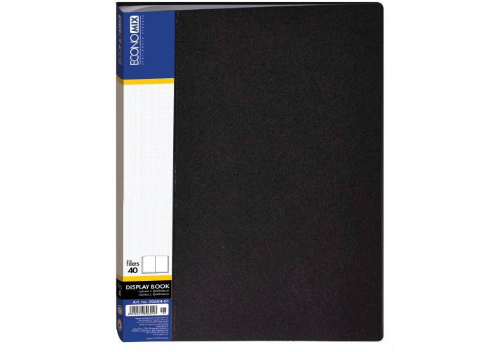 Папка пластиковая с 40 файлами, ассорти (E30604) economix