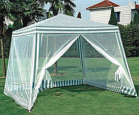 Садовый павильон шатер с москитной сеткой на молнии Ranger SP-002  3х3х2.5м. зелёно-белый