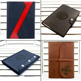 Кожаные блокноты, софт-буки, ежедневники