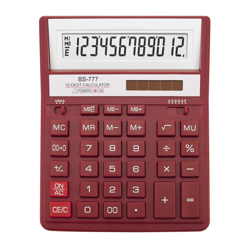 Калькулятор Brilliant BS-777RD, 12 розрядів, червоний BRILLIANT (BS-777RD)