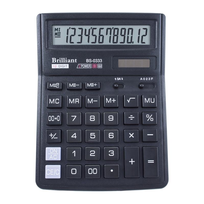 Калькулятор Brilliant BS-0333, 12 разрядов BRILLIANT  ( BS-0333)