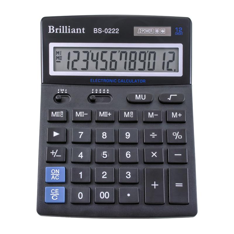 Калькулятор Brilliant BS-0222, 12 разрядов BRILLIANT  (BS-0222)