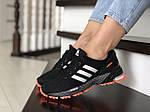 Жіночі кросівки Adidas Marathon (чорно-помаранчеві) 9466, фото 2