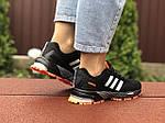 Жіночі кросівки Adidas Marathon (чорно-помаранчеві) 9466, фото 3