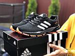 Жіночі кросівки Adidas Marathon (чорно-помаранчеві) 9466, фото 4