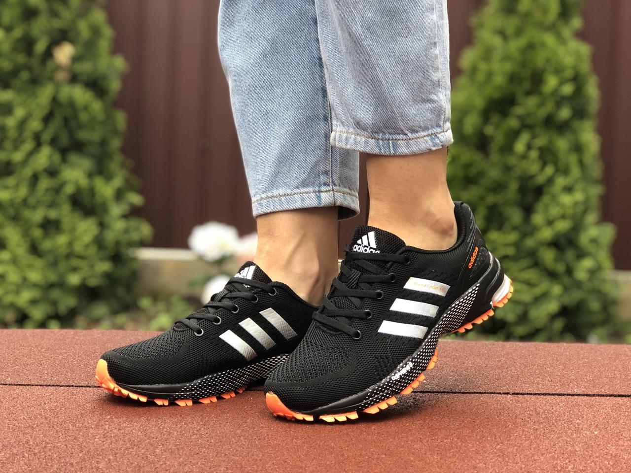 Жіночі кросівки Adidas Marathon (чорно-помаранчеві) 9466