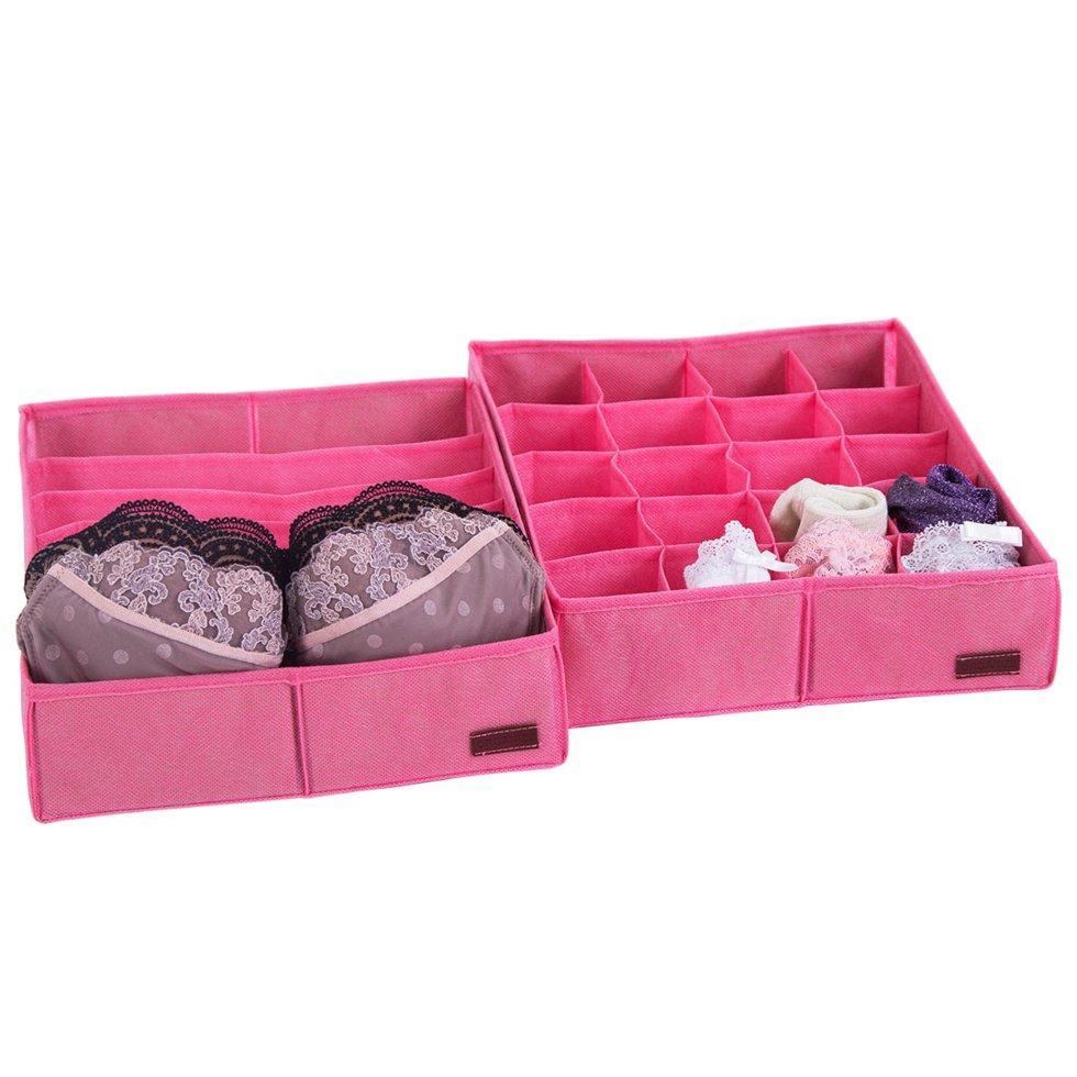 Набор органайзеров для нижнего белья 2 шт ORGANIZE Pink002 розовый
