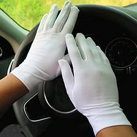 Перчатки эластичные белые