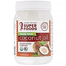 """Органическое кокосовое масло Dr. Murray's """"Organic Virgin Coconut Oil"""" первого отжима (473 мл)"""