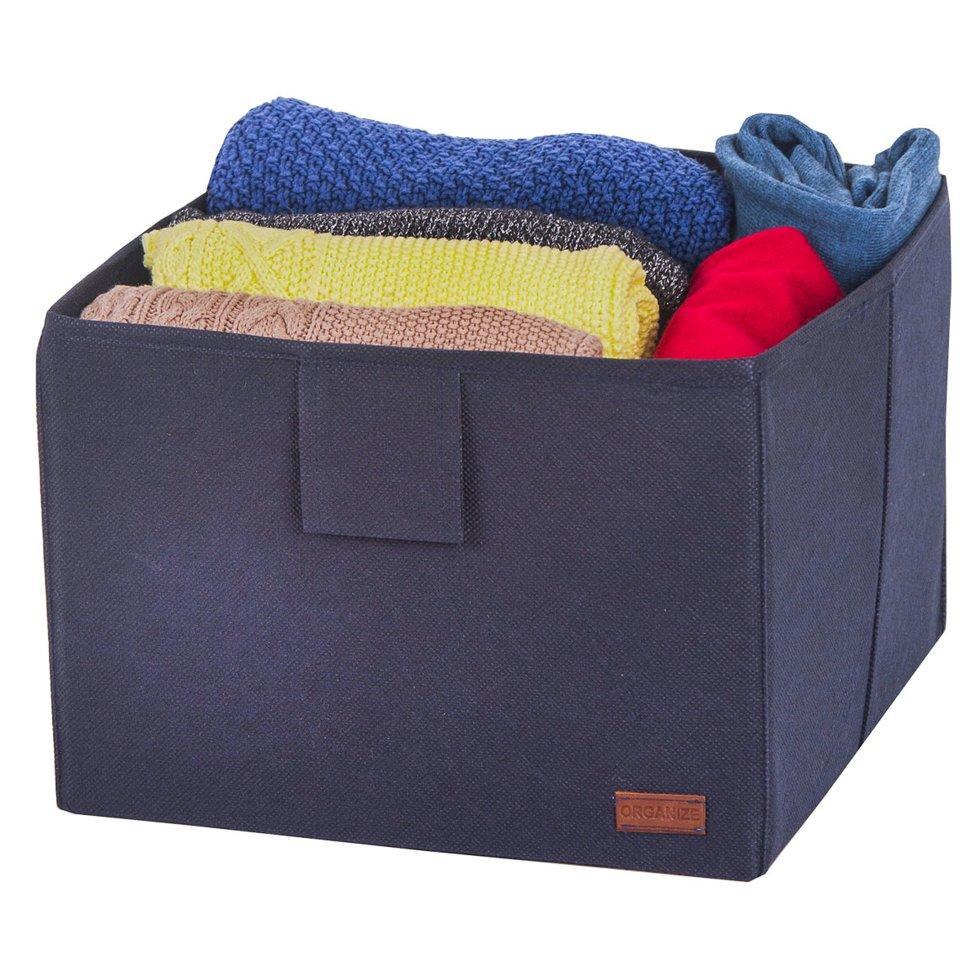 Ящик-органайзер для хранения вещей L ORGANIZE HY-L-blue синий