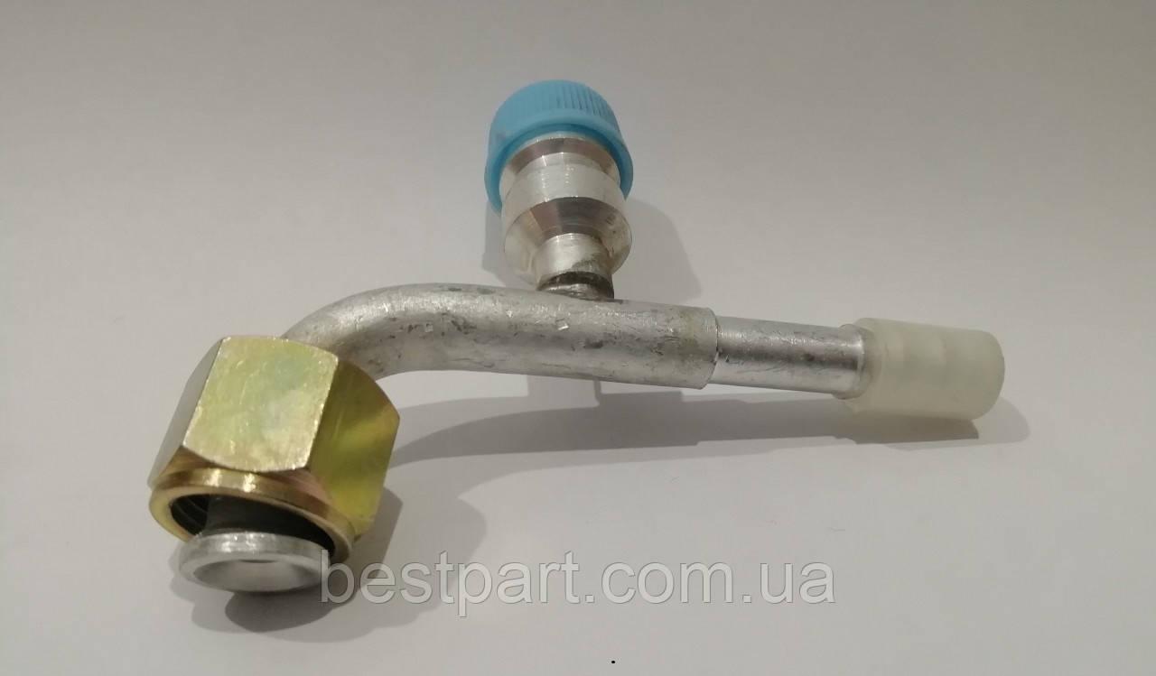 Фітінг №10, 90', алюміній, з сервісним клапаном
