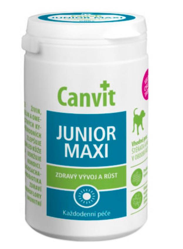 КАНВІТ ЮНИОР МАКСІ ДОГ Сanvit Junior Maxi for dogs   кормова добавка для цуценят великих порід,  76 таб
