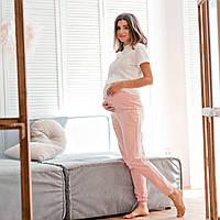 Штаны для беременных летние S пудра