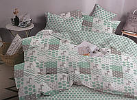 Комплект постільної білизни ТЕП Polina бязь 215-150 см зелений