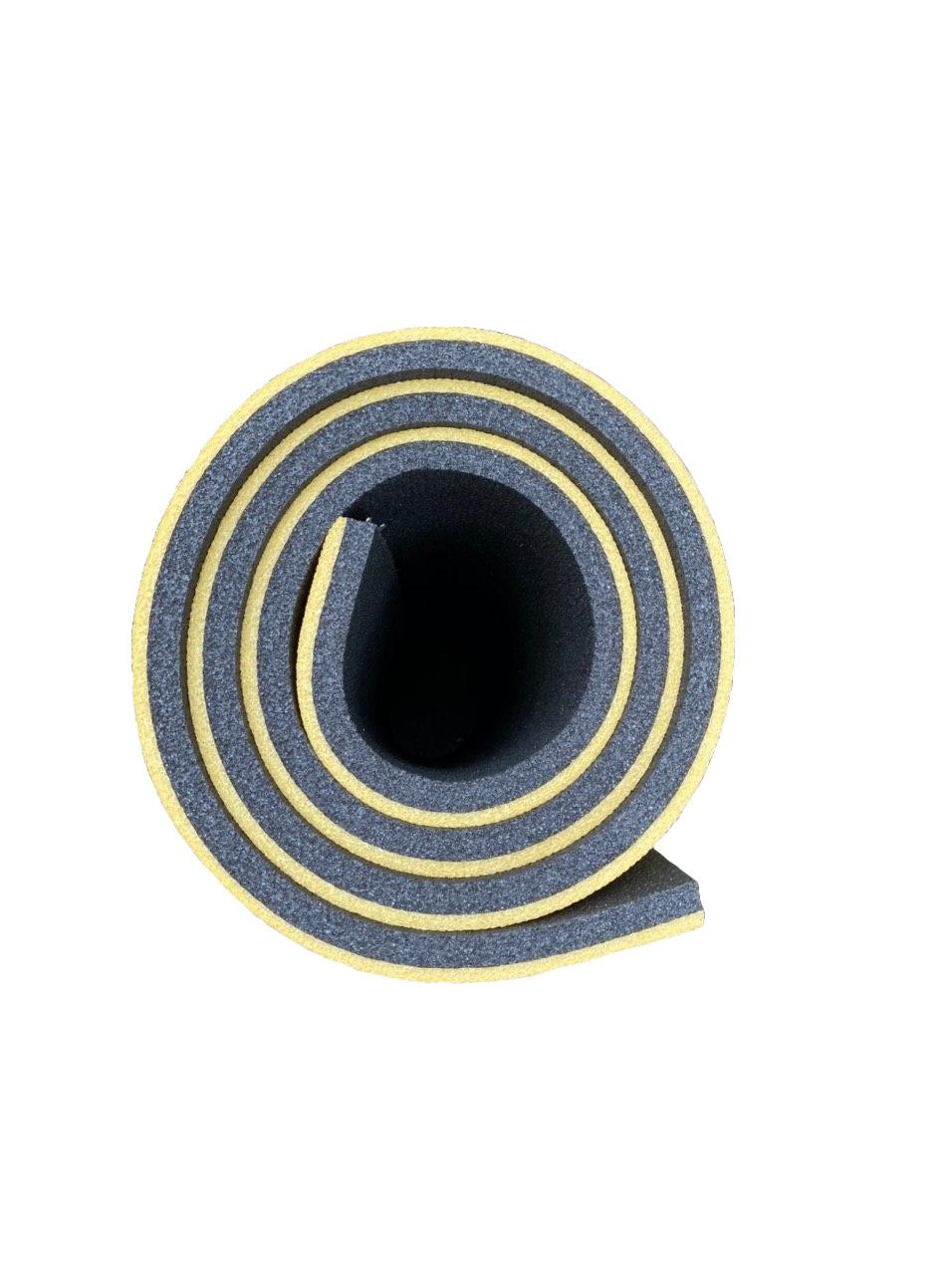Каремат туристический, желто-серый, т. 16 мм, размер 60х180 см, производитель Украина, TERMOIZOL®