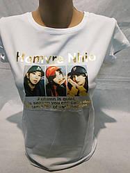 Молодёжная принтована футболка норма Турция размер 42-46