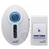 Дзвінок дверний бездротовий 230V LDB45 білий з синім, фото 1