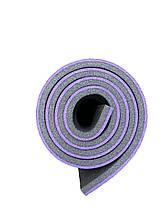 Каремат туристический, фиолетово-серый, т. 15 мм, размер 60х180 см, производитель Украина, TERMOIZOL®