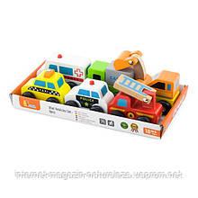 """Набір Viga Toys """"Міні-машинки"""" 6 шт. (59621)"""