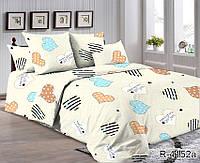 Двуспальный комплект постельного белья из Ранфорса с сердечками