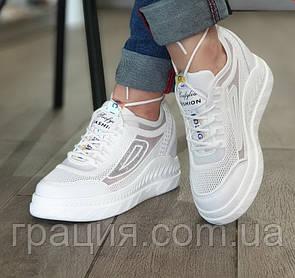 Модные летние женские белые кроссовки