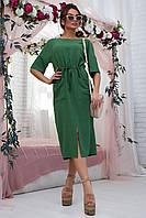 Стильне зелене жіноче плаття  / Женское платье зеленого цвета, платья женские летние, платье модное стильное