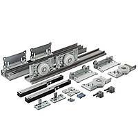 Раздвижная система для шкаф-купе Новатор 880D с доводчиками для 2х дверей весом до 80кг и рельса 2м