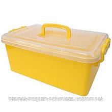Контейнер пластиковий великий Gigo жовтий (1140YY)