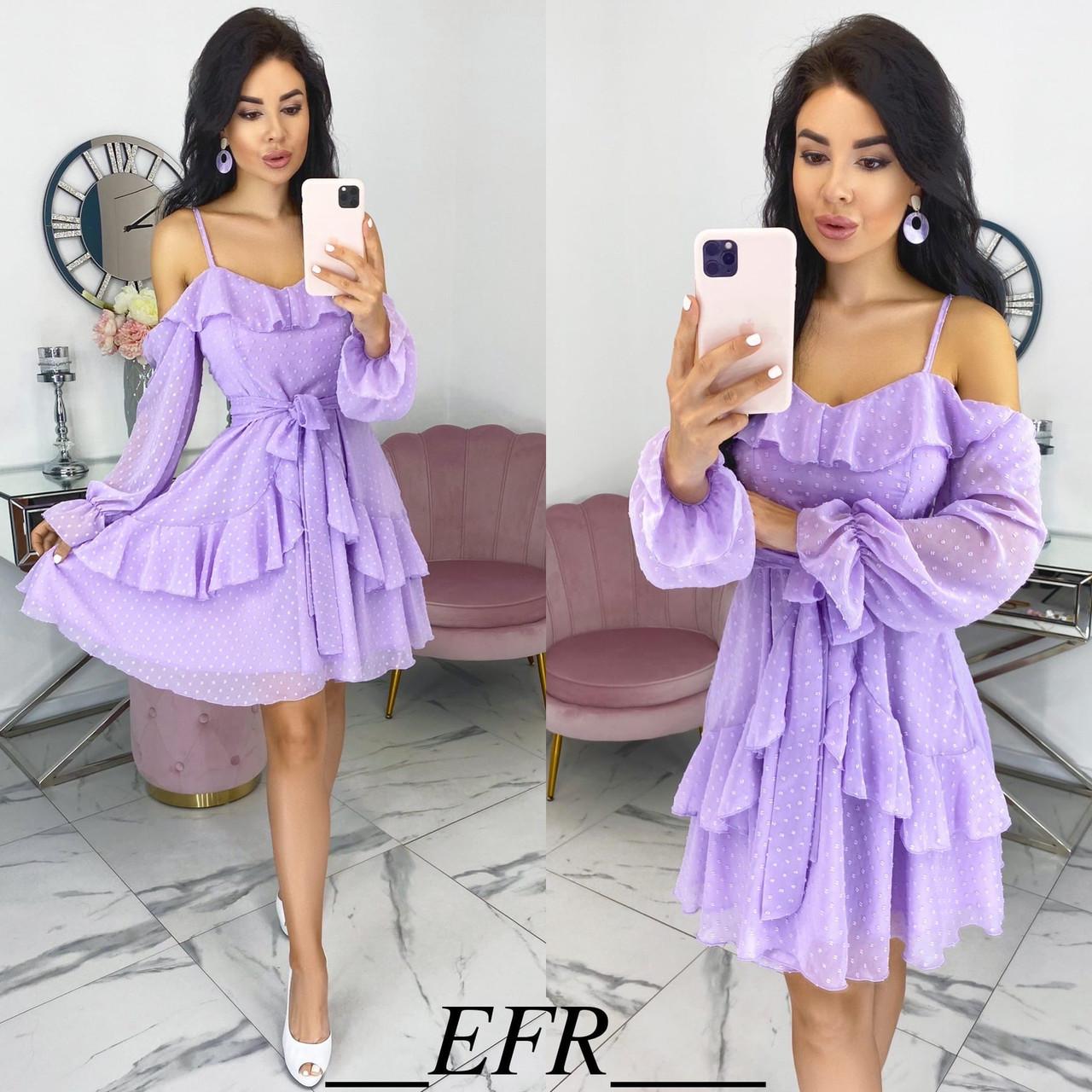 Женское летнее платье с 42 по 46 рр структурный шифон на подкладке