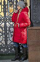 Модная женская зимняя куртка-пуховик без меха рр 42-56