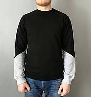 Свитшот толстовка мужская WARM черная с серым