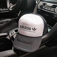 Бейсболка мужская Adidas black-white с сеткой