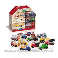 Набір вантажівок Guidecraft Block Play до Дорожньої системі, 12 шт. (G6718)