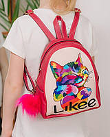 Детский рюкзак для девочки Isobel Котик Likee малиновый 333