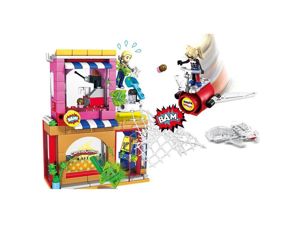 """Дитячий конструктор JVToy 12002 """"ДОПОМОГА ХАРЛІ КВІН"""" серiя ЧУДО ДІВЧАТКА неодмінно сподобається всім маленьким любителям захопливих пригод!"""