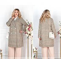 Женское пальто батал с атласной подкладкой рр 48-62