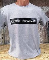 """Футболка мужская с принтом EMPORIO ARMANI, размеры  S-XL (11цв) """"MAKS"""" купить недорого от прямого поставщика, фото 1"""