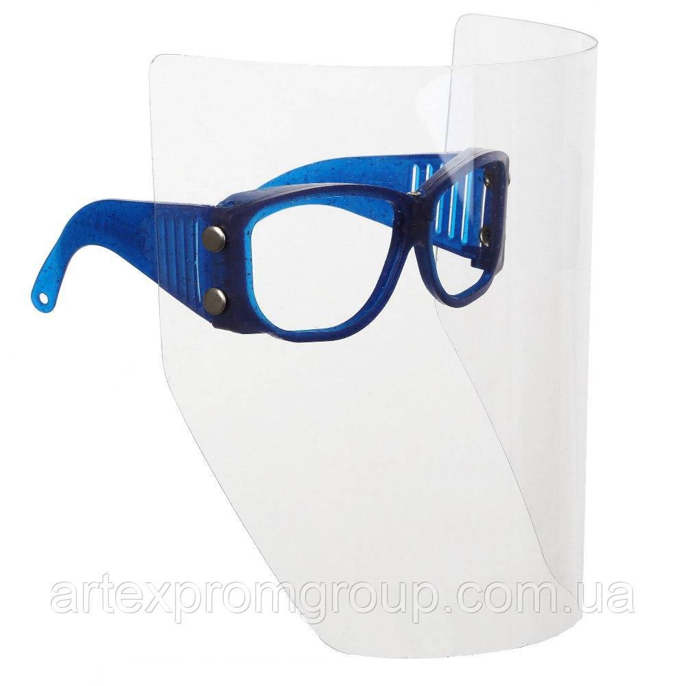 Щиток защитный лицевой с очками