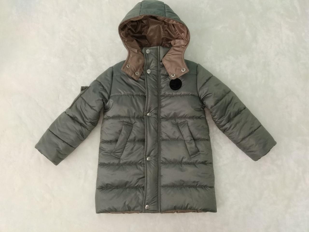 Куртка удлинённая зимняя. Размер 104-110