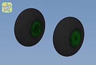 Колеса для Mи-24 V/D Hind (смола)