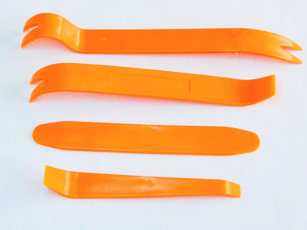 Комплект инструментов для снятия панелей салона ZIRY 4pcs orange